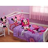 Disney Minnie Mouse Fluttery Friends 3pc Toddler Bedding Set with BONUS Matching Pillow Case by Disney