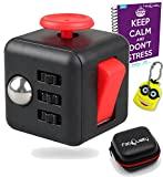 Image of FabQuality Cube Anxiety Attention Toy With BONUS eBook Included + Minion Key Chain - Relieves Stress And Anxiety And Relax for Children and Adults BONUS EBOOK is sent by email