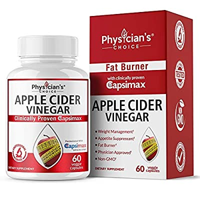 Organic Apple Cider Vinegar for Weight Loss: Clinically Proven Capsimax - Appetite Suppressant, Fat Burners for Women, Men, Weight Loss Pills & Diet, Detox Cleanse Capsules, Weight Loss Supplements