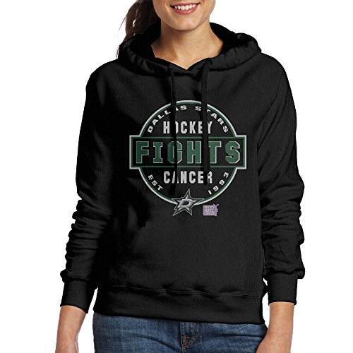 fan products of Women's Dallas Stars Hockey Fights Cancer Conquer Pullover Hoodies