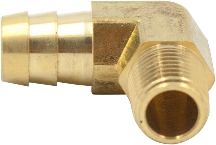 3//8 Hose ID x 1//8 NPT Male 2pcs 90 Degree Male Elbow Legines Brass Hose Barb Fitting