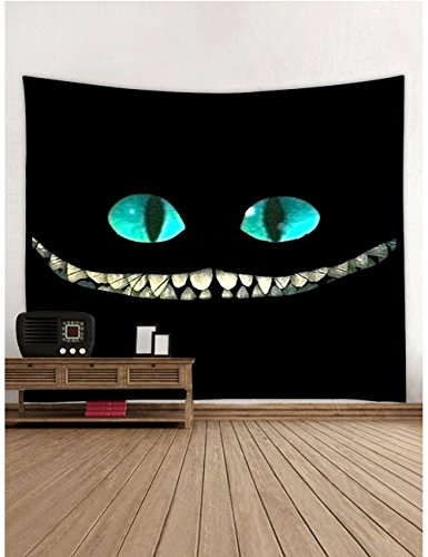 Muuyi Wall Decor Tapestry, Animal Closeup Portrait Home Decor Tapestries Wall Art, Black Cat Wall Hanging Art Sets, Halloween Wall Decorations Tablecloth Holiday Living Room Decoration - 60x51 Inches