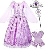 Girls Rapunzel Deluxe Princess Dress Costume (3-4)