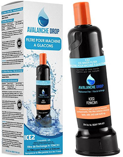 Certified Whirlpool F2WC9I1 ICE2 Refrigerator Ice Maker Water Filter And Compatible with Maytag, Kitchen-Aid, Jenn-Air, Amana, Magic Chef, Admiral And Norge Machine