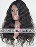 Chantiche Body Wave Silk Top Wigs for Black Women Glueless Brazilian Virgin 100 Human Hair Wigs Invisible Deep Part Silk Base Lace Front Wig with Baby Hair 18'' Natural Black #1B