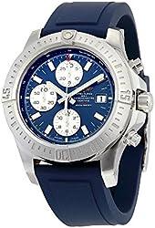 Breitling Colt Chronograph Automatic Blue Dial Blue Rubber Mens Watch A1338811-C914BLPT