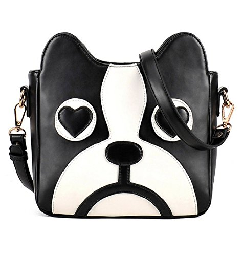WorkTd Big Girls Boston Terrier Crossbody Shoulder Messenger Bag Purse