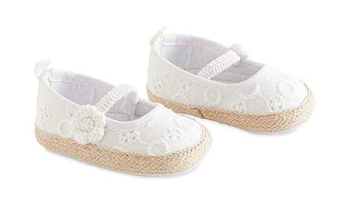 Amazon.com: Bebé Niñas Blanco Anilla Zapatos, 0 - 6 meses ...
