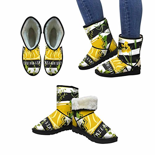 InterestPrint Womens Snow Boots Vintage Summer and Spring Flowers Unique Designed Comfort Winter Boots Multi 1 p9LULQ