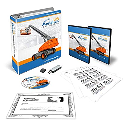 Image of Aerial Lift Certification Training Kit - OSHA Compliant Aerial Lift Operator COMPLETE Training With Certificates Of Completion, Operator Cards, Student Hand Outs, Hands On Evaluation Checklist & More Home Improvements