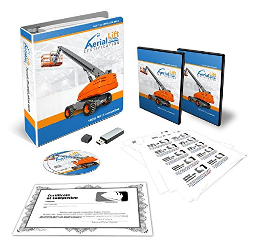 Aerial Lift Certification Training Kit - OSHA Compliant Aerial Lift Operator COMPLETE Training With Certificates Of Completion, Operator Cards, Student Hand Outs, Hands On Evaluation Checklist & - Lift Boom Aerial