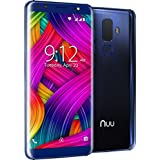 "G3 NUU Mobile 5.7"" 64GB Unlocked Phone - 4GB Ram Dual-SIM GSM LTE - Dual Camera 13 MP Fingerprint ID Fast Charge Blue"