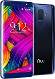 G3 NUU Mobile 5.7'' 64GB Unlocked Phone - 4GB Ram Dual-SIM GSM LTE - Dual Camera 13 MP Fingerprint ID Fast Charge Blue
