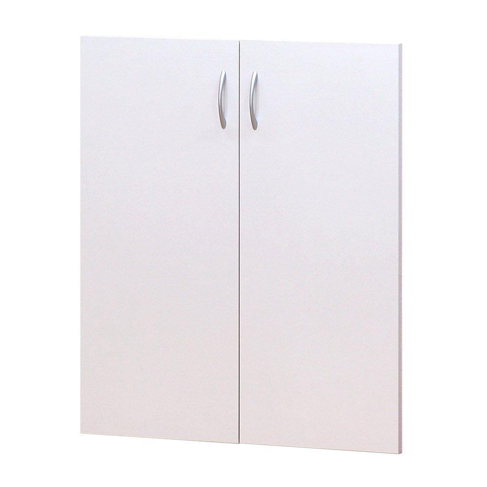 クロシオ 7518用 上置きユニット ホワイト 幅75cm高さ47~68.2cm 万能カスタム書棚 B00ME12W68 上置きユニット 【追加部品】