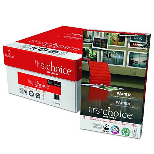 - Domtar 85781 MultiUse Premium Paper, 98 Brightness, 24lb, 8-1/2 x 14, White, 500 Sheets per Ream