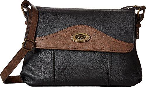 Price comparison product image b.o.c. Women's Potomac Crossbody with Power Bank Black / Saddle Crossbody Bag
