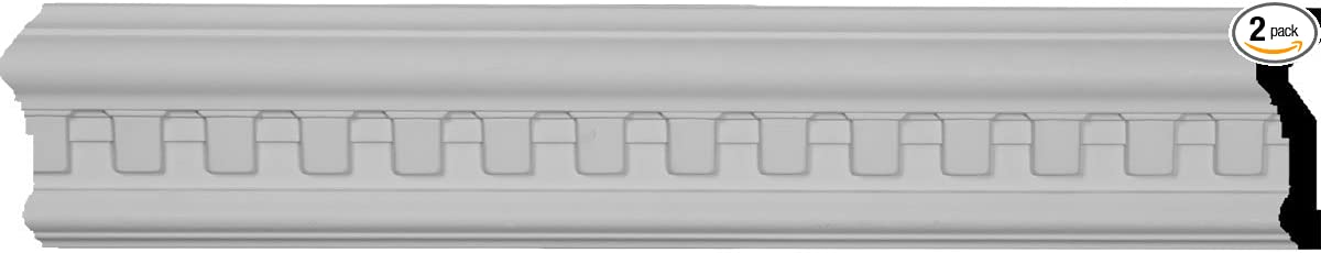 3 1//2H x 1P x 94 1//2L Munich Dentil Chair Rail Moulding 2-Pack