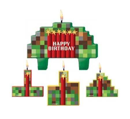 Amscan TNT - Juego de Velas de cumpleaños con píxeles ...