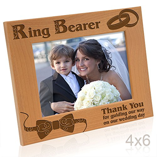 Kate Posh - Ring Bearer - Thank you for guiding our way on our wedding day - Picture Frame (4x6 Horizontal) -