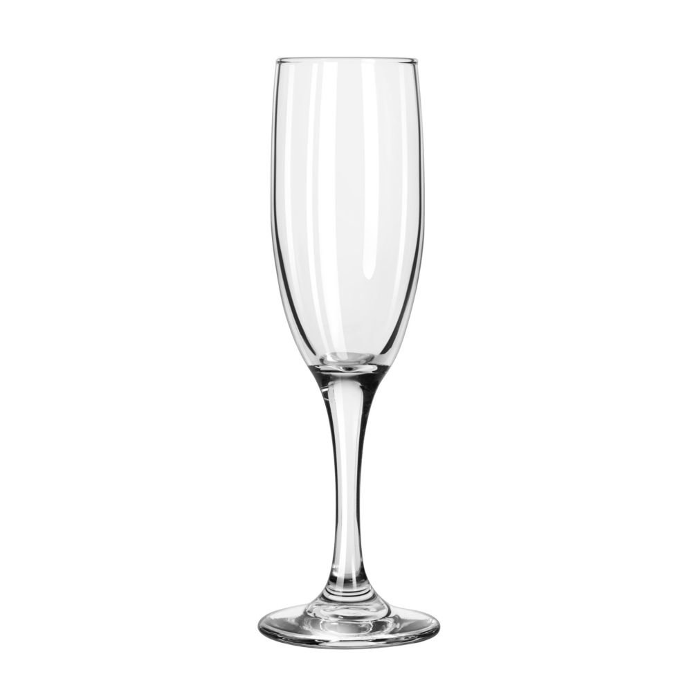 Libbey Glassware 3795 Embassy Flute, 6 oz. (Pack of 12)