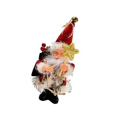 Amosfun Santa Claus,Santa Claus,decoración de Escritorio,muñecos: Juguetes y juegos