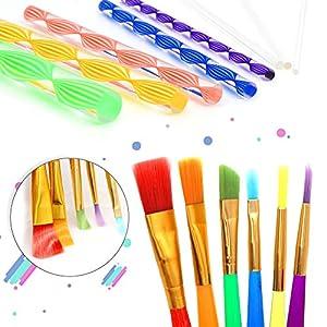 Mandala Dotting Tools, Angela&Alex 31 Pcs Mandala Stencil Mandala Painting Tool Kits Brushes Paint Tray for Painting Rocks Coloring Drawing and Drafting Art Supplies