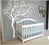 Wall Art Decoration Wall Mural Vinyl Wall Decal Tree and Flying Birds Cherry Blossom Tree Wall Sticker for Kids Room