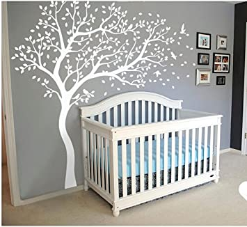 Wall Art Decoration Wall Mural Vinyl Wall Decal Tree and Flying Birds Cherry Blossom Tree Wall & Amazon.com: Wall Art Decoration Wall Mural Vinyl Wall Decal Tree and ...