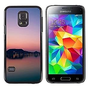 TopCaseStore / la caja del caucho duro de la cubierta de protección de la piel - Sunset Beautiful Nature 81 - Samsung Galaxy S5 Mini, SM-G800, NOT S5 REGULAR!