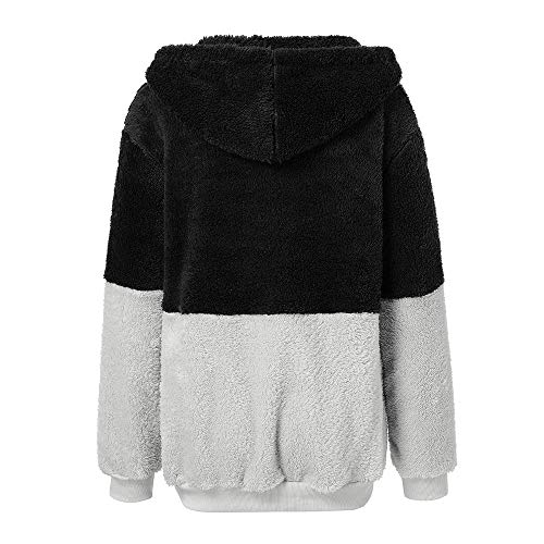 De Lana Camiseta E Blusa Tops Negro Top Bbestseller Doble Otoño Mujer Sudaderas Cardigan Capucha Tejido Mujer Suéter 1 Capa Polar Invierno Para wfWpqS