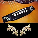 Inlay Sticker Decal For Acoustic Guitar Bridge Side In MOP Theme - Traditional (WT) Set