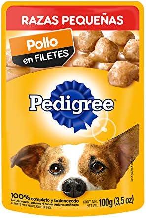PEDIGREE alimento húmedo para Perros Adultos de Razas Pequeñas. Sabor: Pollo en Filetes. Contiene 10 Sobres 2
