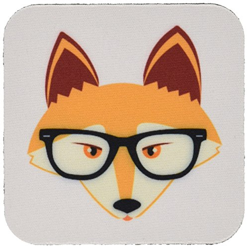 3dRose cst_175372_2 Hipster Glasses Coasters