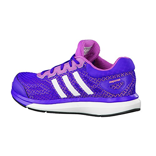 adidas response k Sportschuhe/Running Mädchen, flash pink/ftw white/flash orange, EU 35 (UK2.5)(US3)