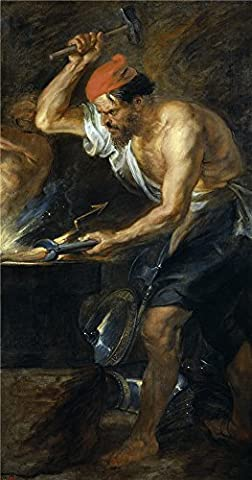 The Perfect effect canvas of oil painting 'Rubens Peter Paul Vulcan forging Jupiter's Lightening Bolts 1636 38 ' ,size: 20 x 38 inch / 51 x 97 cm ,this Beautiful Art Decorative Prints on Canvas is fit for gift for bf and gf and Home decor and - Clair Lightening