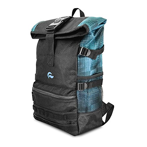 Skunk Backpack Rogue - Smell Proof - Water Proof - Lockable - Hydroponics (Navy Denim) 12' Carbon Filter