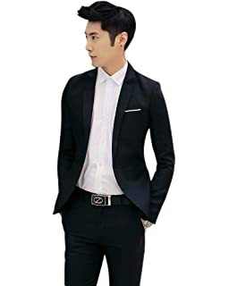 13dc96c89fe4 KINDOYO Business Blazers Suits - Classic Men 2 Piece Suit Slim Fit Coat  Gentleman Autumn Winter Jacket Long Sleeve…