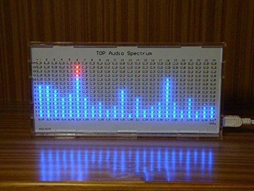 Nobsound 1424 Music Spectrum Audio Spectrum Sound Level LED Level Meter  Display Analyzer for HiFi (White)