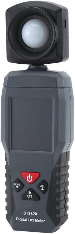 QWERTOUR Digital Light Meter 3 Range Photometer Light Detector Spectrometer 1-200,000 High Low Alarm Luminometer