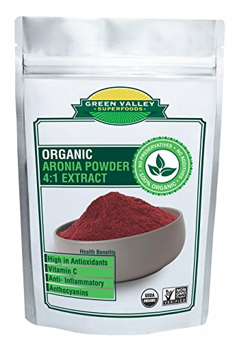 Green Valley Superfoods Organic Aronia Berry 4:1 Extract Chokeberry Powder (8 Ounce)