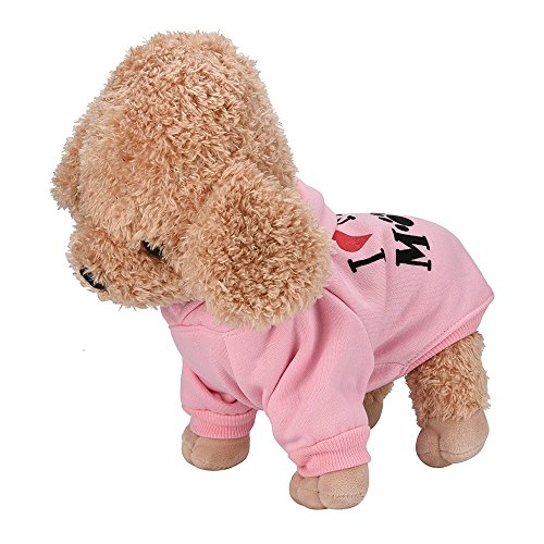 Big Promotion!!Farjing Small Pet Dog Clothes Fashion Costume Puppy Cotton Blend T-Shirt Apparel(S,Pink ) -
