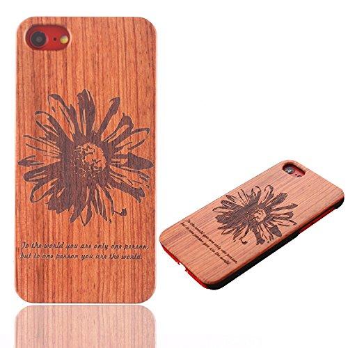 Funda Madera para iPhone 6s, Vandot Natural Ultra Slim Talla Madera Bambú Cubierta Trasera Duro con Hybrid PC Shell Cubrir Protectora Absorción Impactos Anti-Arañazos para iPhone 6/6s 4.7 Pulgadas, Pa Mu+PC 30