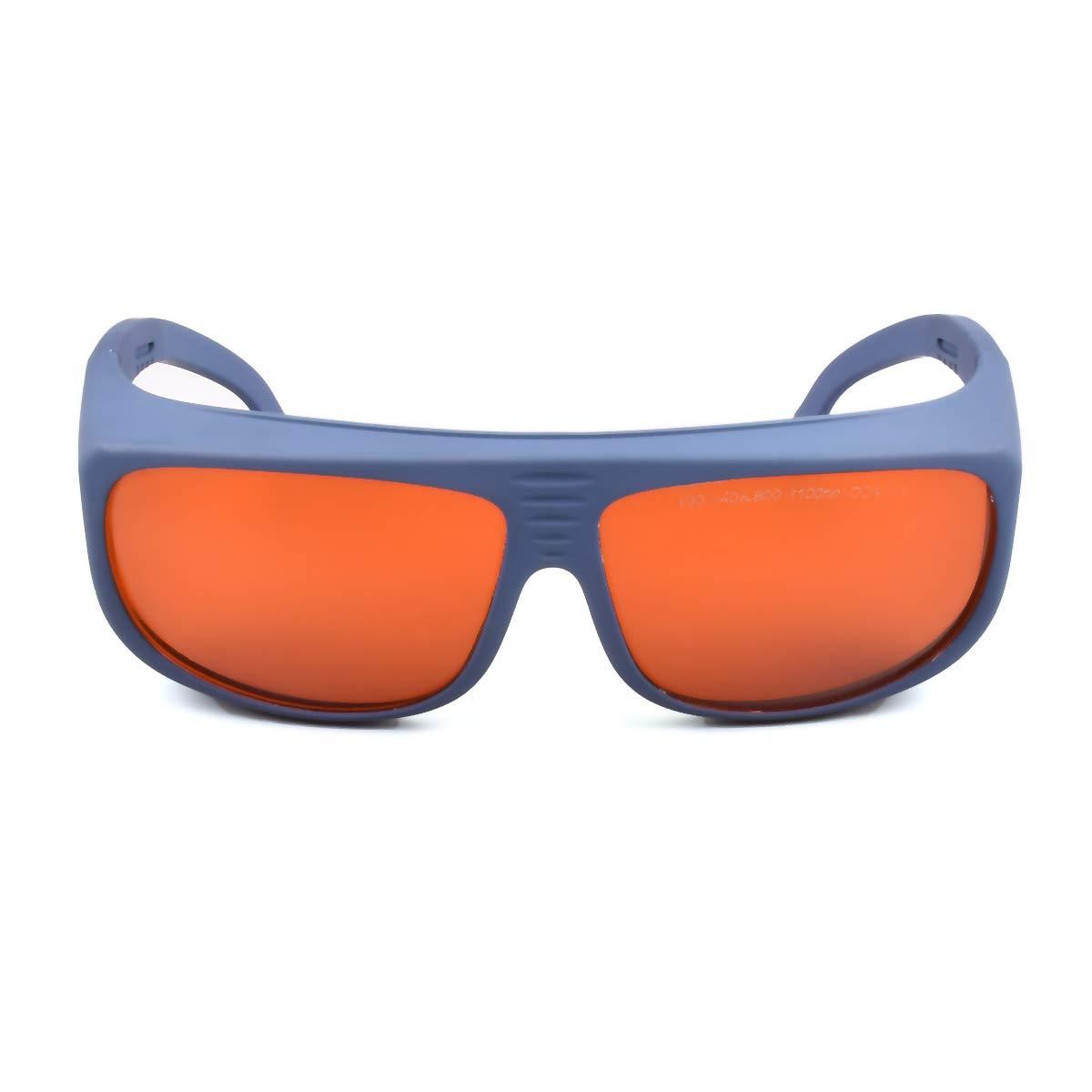 OD 6+ 190nm-550nm / 800nm-1100nm Wavelength Professional Laser Safety Glasses for 405nm, 450nm, 532nm, 808nm,980nm,1064nm, 1080nm, 1100nm Laser (Style 5) by FreeMascot
