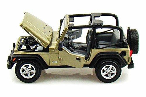 60s Wrangler - Jeep Wrangler Rubicon Convertible, Khaki - Maisto 31245 - 1/27 scale diecast model car