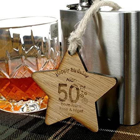 Personalised 50th Birthday Gift Ideas Wooden Star