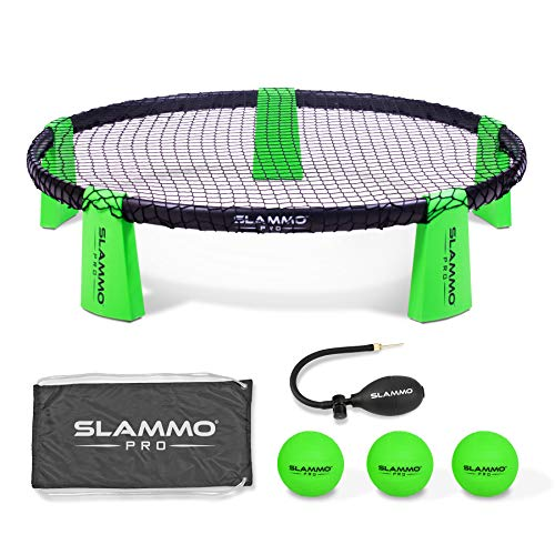 (GoSports SLAMMO PRO Game Set - New and Improved PRO Set with 3 PRO Balls, Pump and Carrying Case)