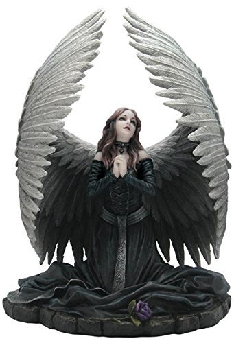 8.75 Inch Figure Fallen Angel Praying Anne Stokes Collectible Gifts ()
