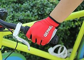 Guantes de ciclismo luminosos sin dedos con núcleo de gel para crossfit, conducción segura de noche, ciclismo, senderismo y spinning de Qepae®, rojo: Amazon.es: Deportes y aire libre