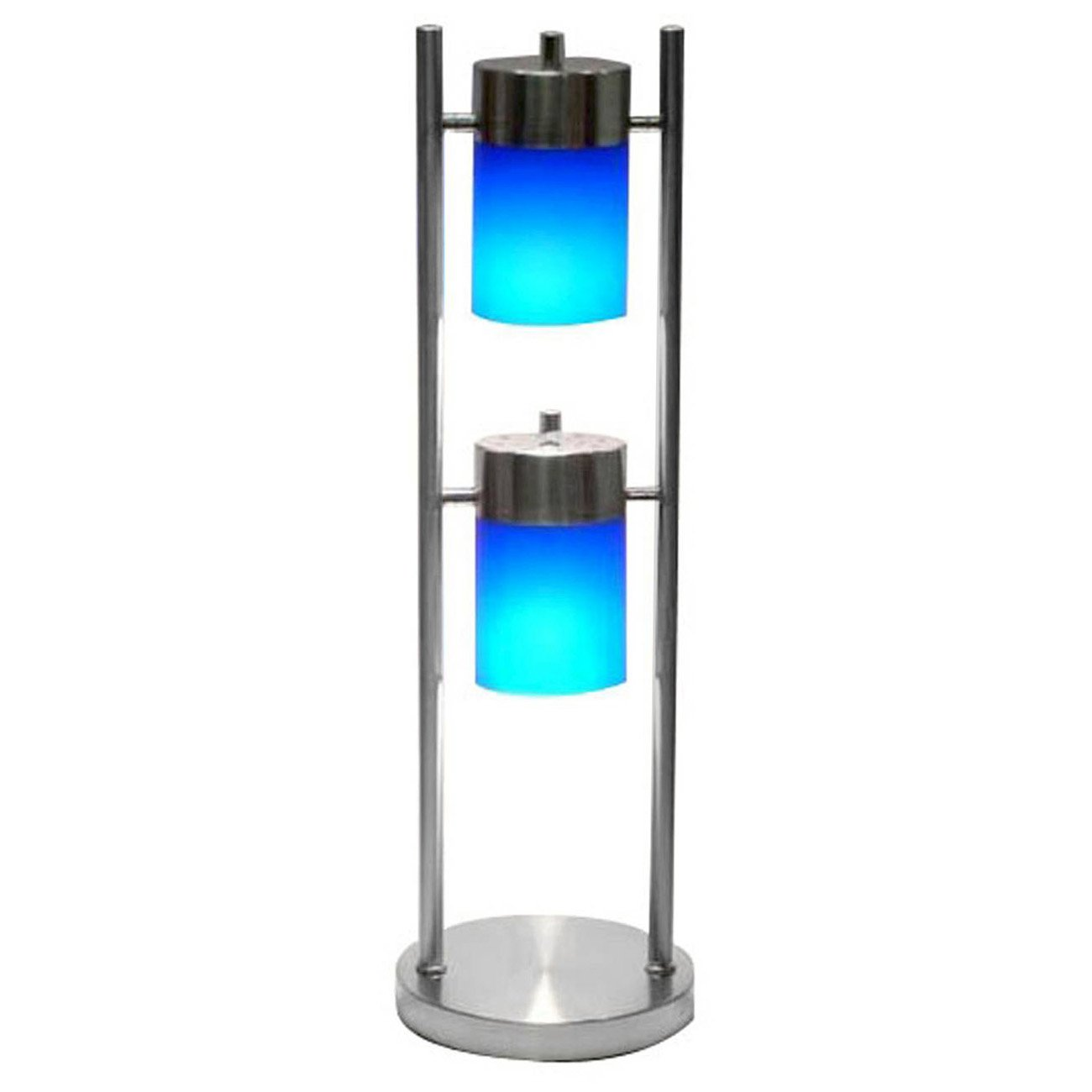 Hongville HV-TLAMP-3031T-BL 2 Light Angle Adjustable Contemporary Acrylic Shades Table Lamp, Frosted Blue