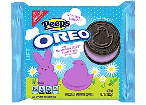 Oreo Peeps Chocolate Sandwich Cookies, 10.7 Ounce (Pack of 12)